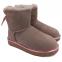 UGG Mini Bailey Bow II Metallic Boot Pink 0