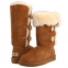 UGG Tall Triplet Button Chestnut  0