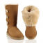 UGG Tall Triplet Button Chestnut II 1