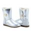 UGG Bailey Button Metallic Silver 2