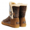 UGG Bailey Button Krinkle Chestnut 2
