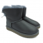 UGG Mini Bailey Bow Leather Grey 0