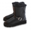 UGG Short Blaise Leather Black 6