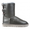 UGG Short Bailey Bow Leather Grey 0