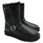 UGG Short Blaise Leather Black 1