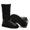 UGG Bailey Button Triplet Leather Black 2
