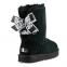 UGG Bailey Bow II Short Customizable Black 0