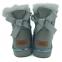 UGG Mini Bailey Bow II Metallic Boot Grey 3