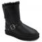 UGG Short Blaise Leather Black 2