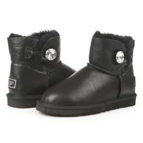 Фото UGG Mini Bailey Bling Leather Black