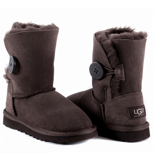 Фото UGG Kids Bailey Button Chocolate