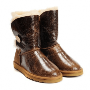 Фото UGG Bailey Button Krinkle Chestnut