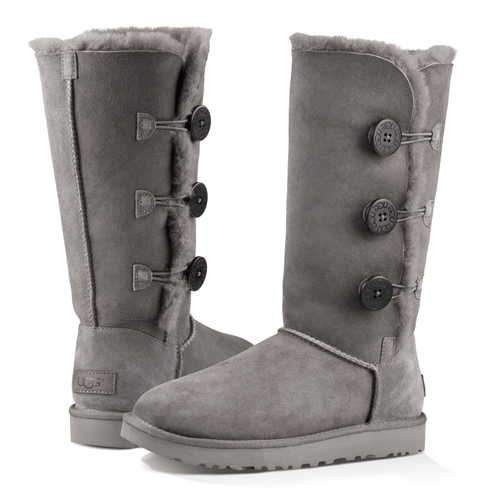 Фото UGG Classic II Tall Triplet Button Grey