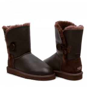 Фото UGG Bailey Button Leather Chocolate