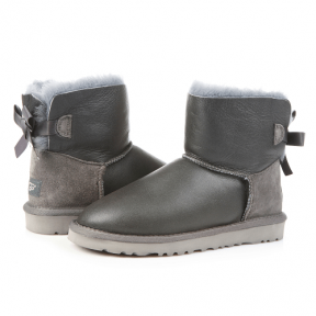 Фото UGG Mini Bailey Bow Leather Grey