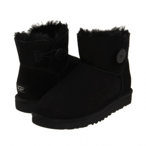 Фото UGG Mini Bailey Button Black