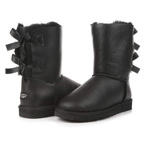 Фото UGG Bailey Bow Leather Black