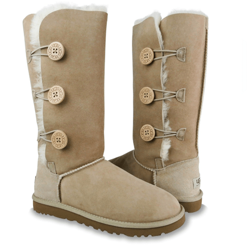 Фото UGG Tall Triplet Button  Sand