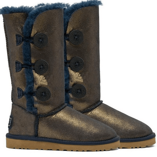 Фото UGG Bailey Button Triplet Nappa Blue Gold