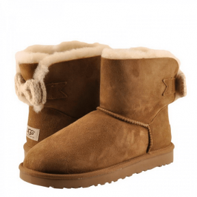 Фото UGG Mini Bailey Knit Bow Chestnut
