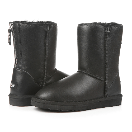 Фото UGG Classic Zip Leather Black