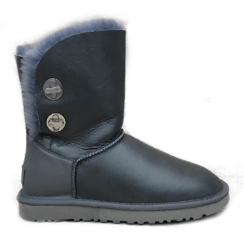 Фото UGG Short Turnlock Bling Boot Leather Gray