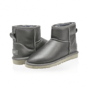 Фото UGG Classic Mini Metallic Grey