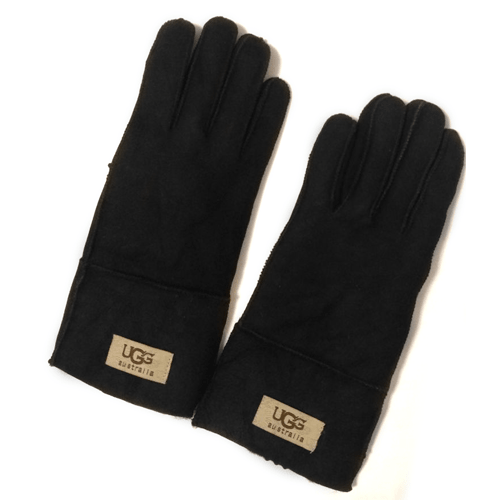 Фото UGG Men Sheepskin Black Gloves