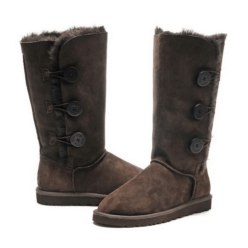 Фото UGG Tall Triplet Button Chocolate