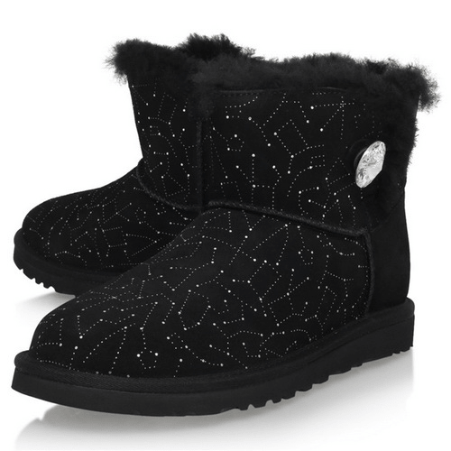 Фото UGG Bailey Button Mini Swarovski Black