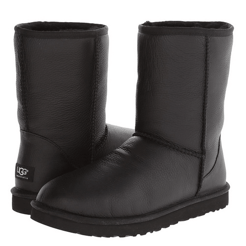 Фото UGG Classic Short Leather Black
