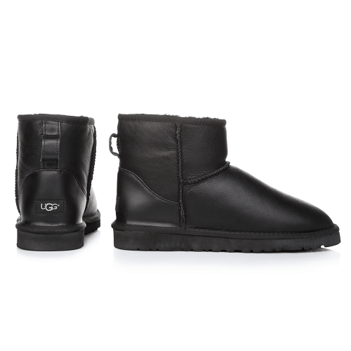 Фото UGG Men Mini Leather Black