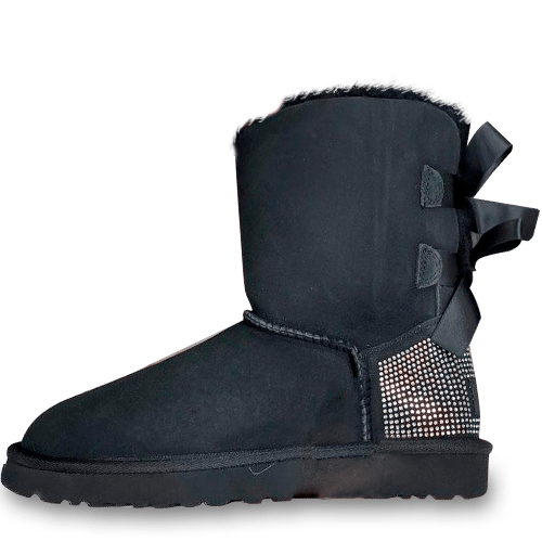 Фото UGG Bailey Bow Swarovski Black