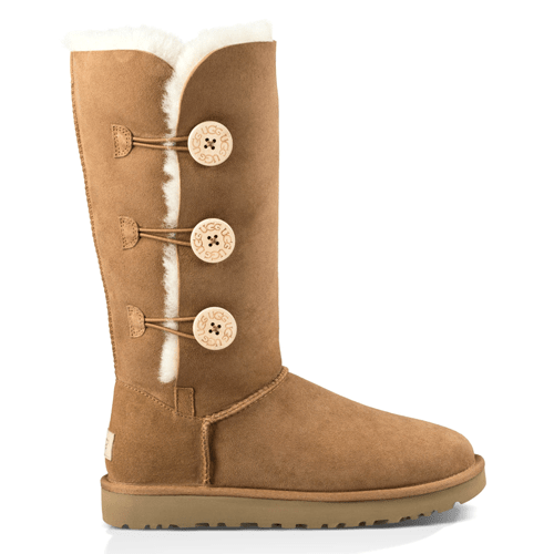 Фото UGG Classic  II Tall Triplet Button Chestnut