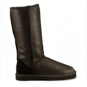 Фото UGG Classic Tall Leather Black II