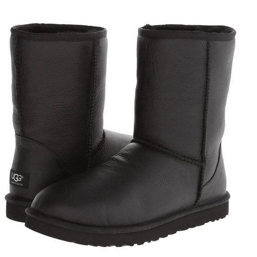 Фото UGG Kid's Classic Short Leather Black