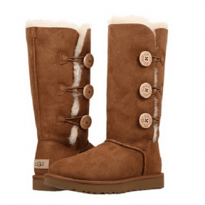Фото UGG Tall Triplet Button Chestnut
