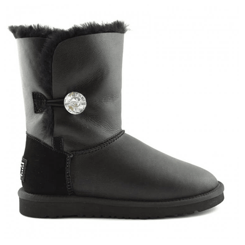 Фото UGG Bailey Button II Bling Leather Black