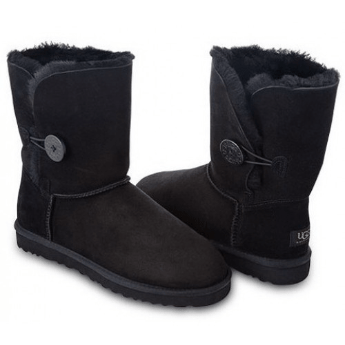 Фото UGG Kid's Bailey Button Black