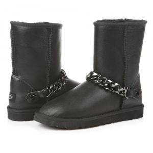 Фото UGG Short Chain Leather Black