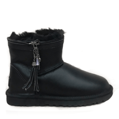 Фото UGG Mini Zipper Leather Black