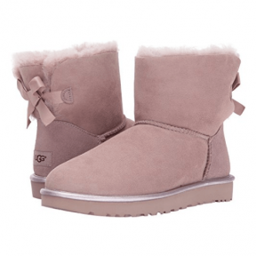 Фото UGG Mini Bailey Bow II Metallic Boot Dusk