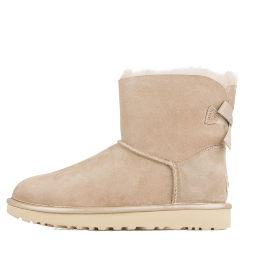 Фото UGG Mini Bailey Bow II Metallic Sand
