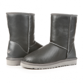 Фото UGG Classic Short Leather Grey
