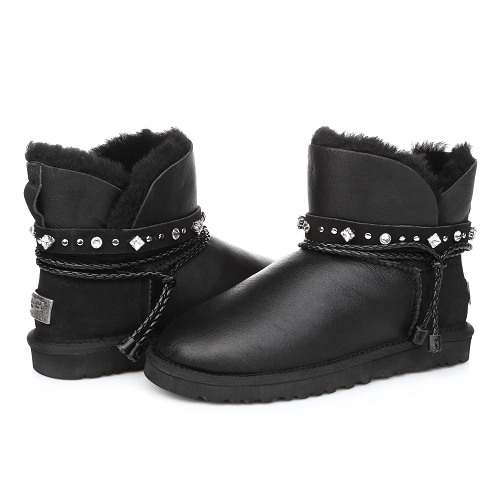 Фото UGG Mini Strap Leather Black