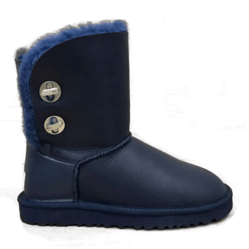 Фото UGG Short Turnlock Bling Boot Leather Navy