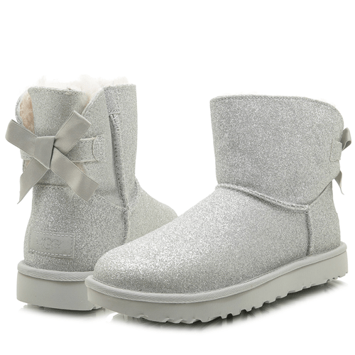 Фото UGG Mini Bailey Bow Sparkle Boot Silver