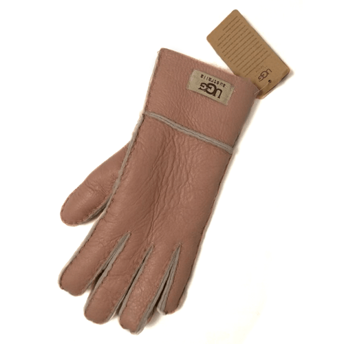 Фото UGG Leather Pink Gloves