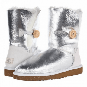 Фото UGG Bailey Button Metallic Silver