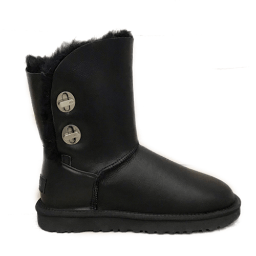 Фото UGG Short Turnlock Bling Boot Leather Black